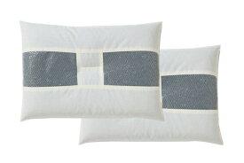 イケヒコ IKEHIKO 竹炭 パイプ枕 2個セット(35×50cm)【日本製】
