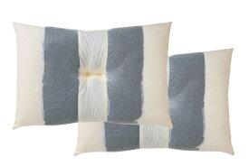 イケヒコ IKEHIKO 竹炭 パイプ枕 リバーシブルタイプ 2個セット(43×63cm)【日本製】