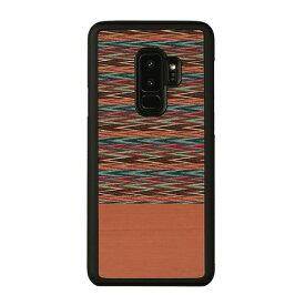 ROA ロア Galaxy S9+ 天然木ケース Browny Check
