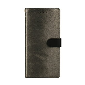 ROA ロア Galaxy S9+ CALF Diary メタルブラック 手帳型ケース