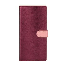 ROA ロア Galaxy S9+ CALF Diary ワインピンク 手帳型ケース