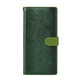 ROA ロア Galaxy S9+ CALF Diary フォレストグリーン 手帳型ケース