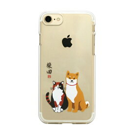 ROA ロア iPhone8/7 しばたさんクリアケース しばみやコンビ