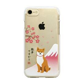 ROA ロア iPhone8/7 しばたさんクリアケース さくら