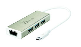 j5 create ジェイファイブクリエイト JCH411 Type-C VGAアダプター+USBマルチハブ[JCH411]
