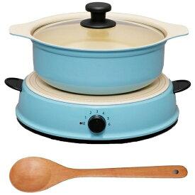 HASHTAG 【ビックカメラグループオリジナル】卓上型IH調理器 鍋セット 「HashTAG(ハッシュタグ) Induction cooker & pot」(1口) HT-IC11S-AG アッシュグリーン[HTIC11SAG]【point_rb】