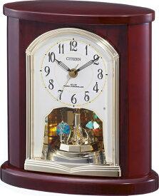 リズム時計 RHYTHM 置き時計 4RY681-N06 [電波自動受信機能有] 【メーカー直送・代金引換不可・時間指定・返品不可】