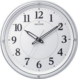 リズム時計 RHYTHM 掛け時計 【リバライト533】 白 8MY533SR03 [電波自動受信機能有]