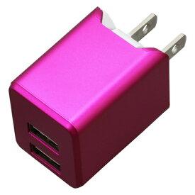 ティ・レイズ TR Company AC充電器+Lightningケーブル 1m PREMIUM マゼンタ BU2ULAN3410MA [USB給電対応 /2ポート]