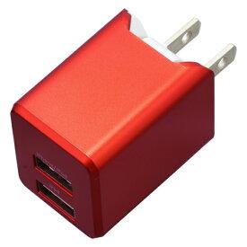 ティ・レイズ TR Company AC充電器+Lightningケーブル 1m PREMIUM レッド BU2ULAN3410RD [USB給電対応 /2ポート]