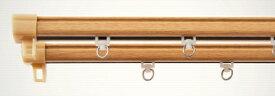 東京シンコール TOKYO SINCOL 静音角型木目レール 1m用(60-100cm) ダブル ナチュラル