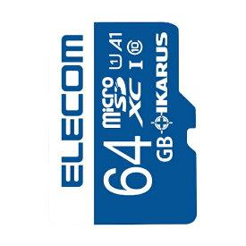 エレコム ELECOM microSDXCカード MF-MSU11IKA_XCシリーズ MF-MS064GU11IKA [64GB /Class10][MFMS064GU11IKA]