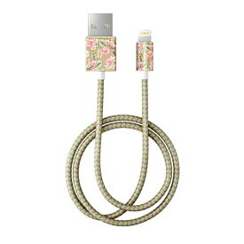 IDEAL OF SWEDEN MFIライトニング 充電通信FASHION CABLE 1M CHAMPAGNE BIRDS IDFCL-65 [1.0m]