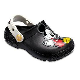 クロックス Crocs 18.0cm 子供用 サンダル Kids Crocs Fun Lab Mickey Mouse Clog(C11:Black) 205113