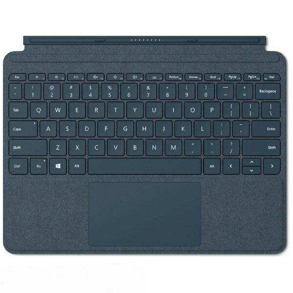 マイクロソフト Microsoft 【純正】 Surface Go用 Surface Go Signature タイプ カバー KCS-00039 コバルトブルー[KCS00039]