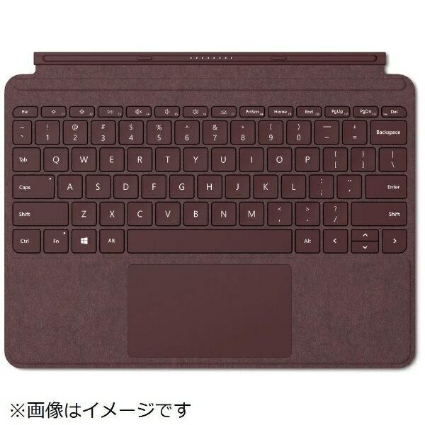 マイクロソフト Microsoft 【純正】 Surface Go用 Surface Go Signature タイプ カバー KCS-00059 バーガンディ[KCS00059]