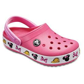 クロックス Crocs 18.0cm 子供用 サンダル Kids Crocband Minnie Mouse Clog(C11:Paradise Pink) 204993