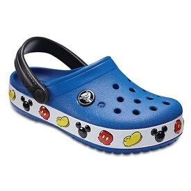 クロックス Crocs 18.0cm 子供用 サンダル Kids Crocband Mickey Mouse Clog(C11:Blue Jean) 204992