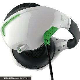 サイバーガジェット CYBER Gadget PSVR用 マイク付きバックバンドヘッドホン ホワイト×グリーン CY-VRMBHP-WG【PSVR】
