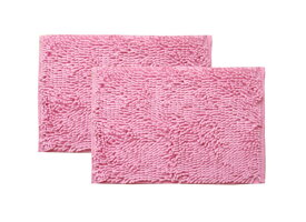 イケヒコ IKEHIKO バスマット 吸水速乾クリア 2枚組(45×60cm ×2枚/ピンク)
