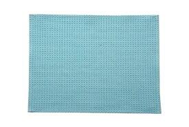 イケヒコ IKEHIKO バスマット ワッフル(35×50cm/ブルー)