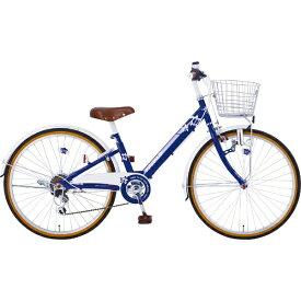 タマコシ Tamakoshi 22型 子供用自転車 マハロジュニア V226(ネイビー/外装6段変速)【組立商品につき返品不可】 【代金引換配送不可】