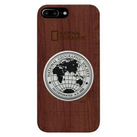 ROA ロア iPhone8/7Plus メタルデコ ウッド ケース NG13048I8P