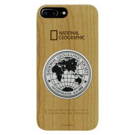 ROA ロア iPhone8/7Plus メタルデコ ウッド ケース NG13049I8P