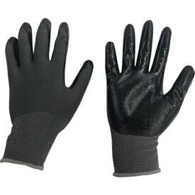 ミタニコーポレーション MITANI ミタニ ニトリル背抜き手袋パワーブラック(ヘッダー仕上)M