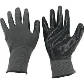 ミタニコーポレーション MITANI ミタニ ニトリル背抜き手袋パワーブラック(ヘッダー仕上)LL