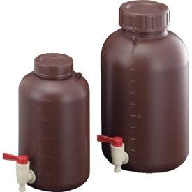 サンプラテック SANPLATEC サンプラ PE広口下口活栓付瓶 遮光 5L