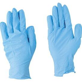 川西工業 川西 ニトリル使いきり手袋 100枚入 ブルー