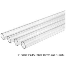 THERMALTAKE サーマルテイク 〔カスタム水冷〕 V-Tubler PETG Tube 16mm OD 500mm 4Pack CL-W065-PL16TR-A[CLW065PL16TRA]
