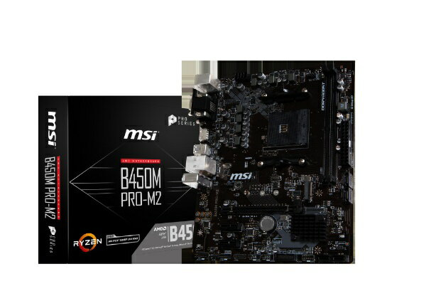 MSI エムエスアイ MSI B450M PRO-M2 B450MPROM2 [MicroATX /AM4]