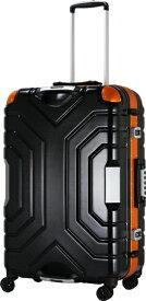 エスケープ ESCAPE スーツケースハードフレーム B5225T-58BK/OR マットBK/OR [52L]