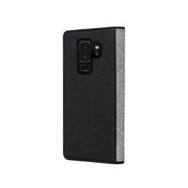 ROA ロア Galaxy S9+ GENTLEMAN FLIP ブラック 手帳型ケース