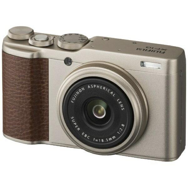 【送料無料】 富士フイルム FUJIFILM コンパクトデジタルカメラ FUJIFILM XF10(シャンパンゴールド)