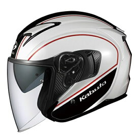 オージーケーカブト OGK KABUTO EXCEED ELIE オープンフェイスヘルメット ホワイトブラック XLサイズ(60-61cm)