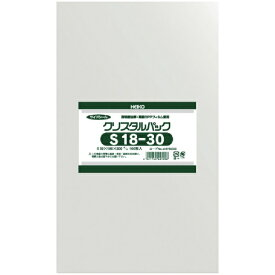 シモジマ SHIMOJIMA HEIKO OPP袋 テープなし クリスタルパック S18−30