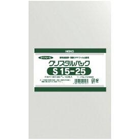 シモジマ SHIMOJIMA HEIKO OPP袋 テープなし クリスタルパック S15−25