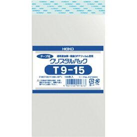 シモジマ SHIMOJIMA HEIKO OPP袋 テープ付き クリスタルパック T9−15