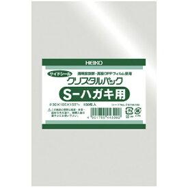 シモジマ SHIMOJIMA HEIKO OPP袋 テープなし クリスタルパック S−ハガキ用