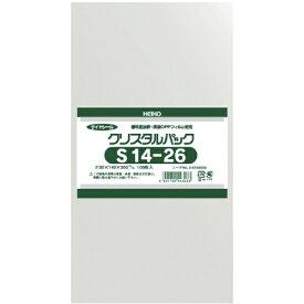 シモジマ SHIMOJIMA HEIKO OPP袋 テープなし クリスタルパック S14−26