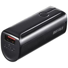 BUFFALO バッファロー モバイルバッテリー ブラック BSMPB3318P1 [3350mAh /1ポート /充電タイプ]