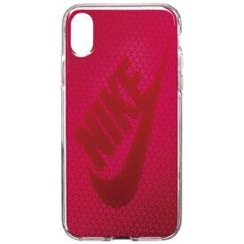 ナイキ NIKE iPhone X用 NIKE GRAPHIC SWOOSH ケース DG0027-922F ラッシュピンク/レッドクラッシュ
