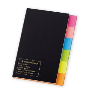 新日本カレンダー SHINNIPPON CALENDER [付箋]6+1ラベル(105×74mm・7種×各30枚) 8985 Black