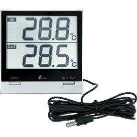 シンワ測定 Shinwa Rules シンワ デジタル温度計SmartC_最高・最低_室内・室外防水外部センサー