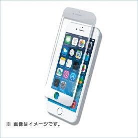 マイキー iPhone8(7)Plus用液晶保護ガラスシートフルカバータイプ ダブルハードクリアー B04-33301WH