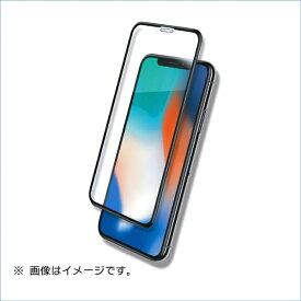 マイキー iPhoneX用液晶保護ガラスシートフルカバータイプ ブルーライトカット B05-33304BK
