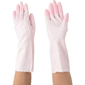 エステー S.T エステー ファミリービニール中厚手 指先強化 M ピンク